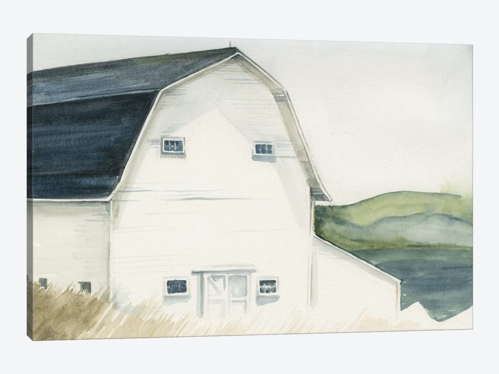 Watercolor Barn IV by Jennifer Paxton Parker 1-piece Canvas Print