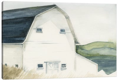 Watercolor Barn IV Canvas Art Print