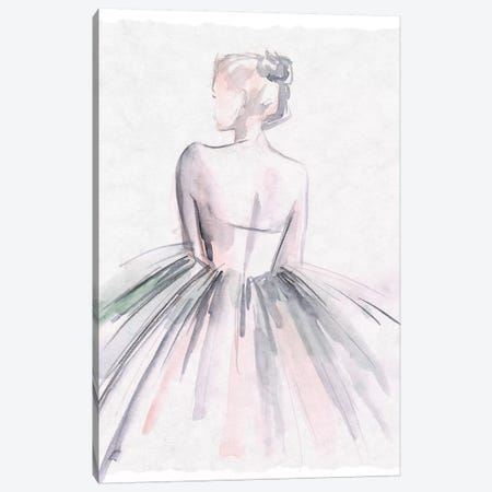 Watercolor Ballerina I Canvas Print #JPP339} by Jennifer Paxton Parker Canvas Wall Art