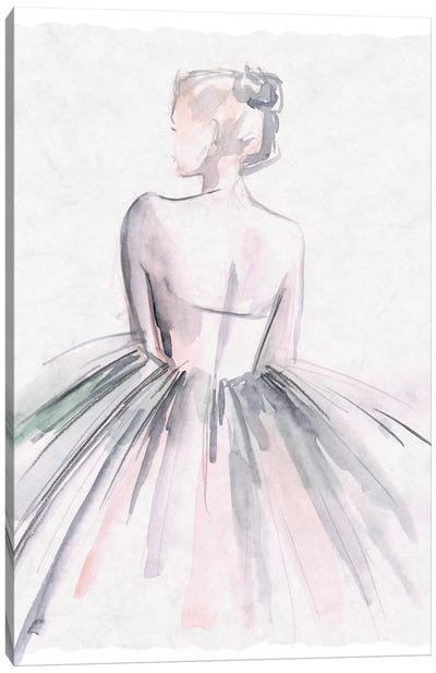 Watercolor Ballerina I Canvas Art Print