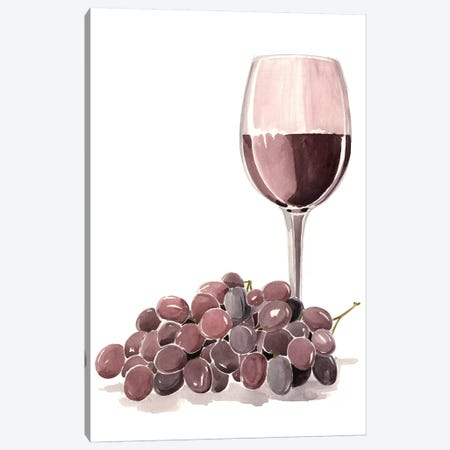 Wine Watercolor I Canvas Print #JPP33} by Jennifer Paxton Parker Canvas Artwork