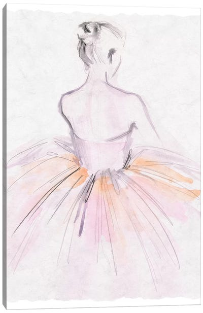 Watercolor Ballerina II Canvas Art Print
