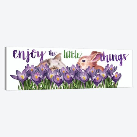Bunny Crossing Collection D Canvas Print #JPP345} by Jennifer Paxton Parker Canvas Art