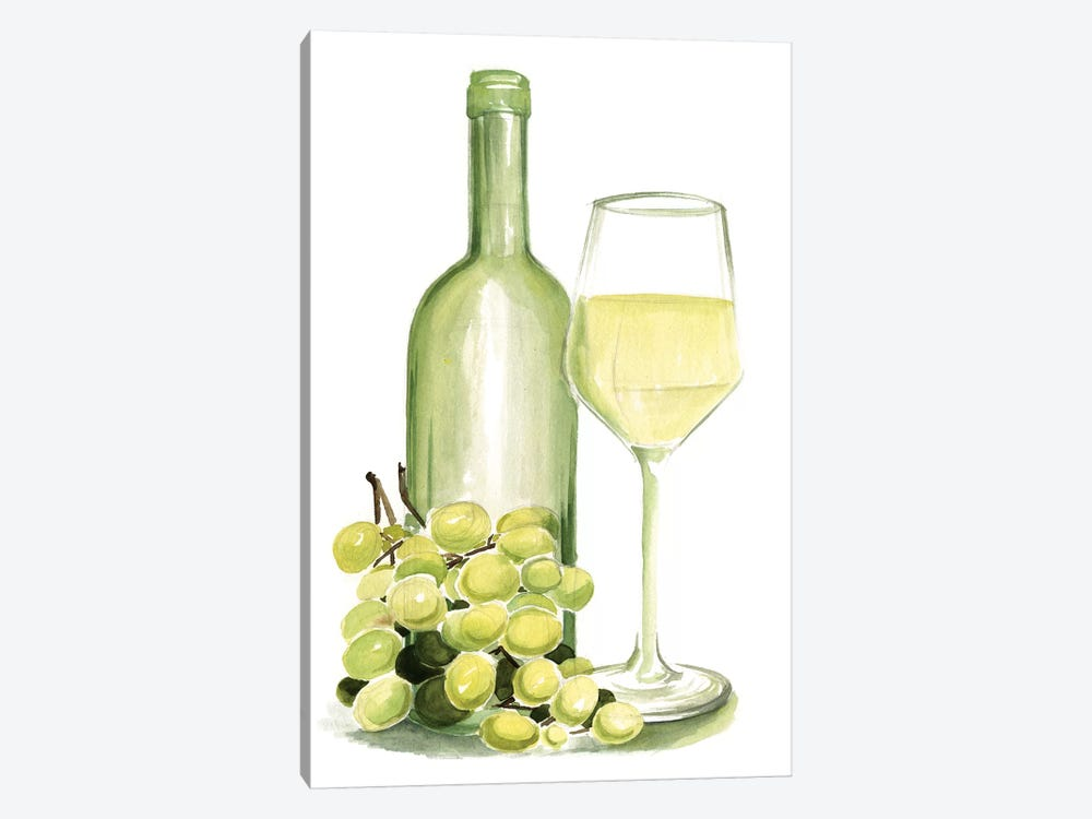 Wine Watercolor II by Jennifer Paxton Parker 1-piece Canvas Art Print