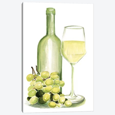 Wine Watercolor II Canvas Print #JPP34} by Jennifer Paxton Parker Art Print