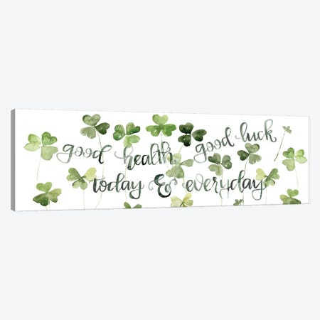 Clover Sayings Collection D Canvas Print #JPP368} by Jennifer Paxton Parker Canvas Print