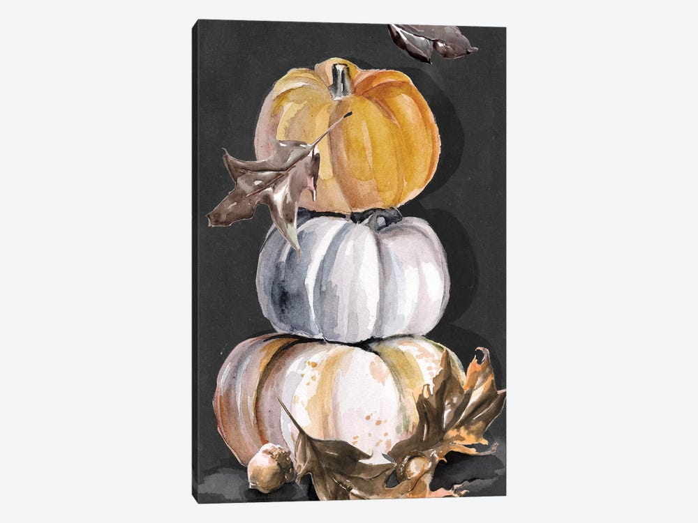 Harvest Pumpkins Collection B  by Jennifer Paxton Parker 1-piece Canvas Artwork