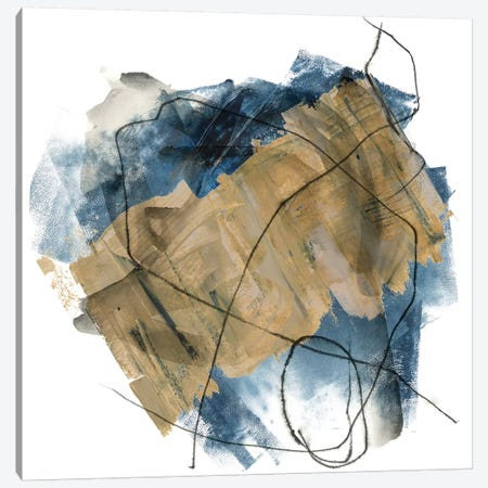 Blue Crew II 3-Piece Canvas #JPP38} by Jennifer Paxton Parker Canvas Artwork