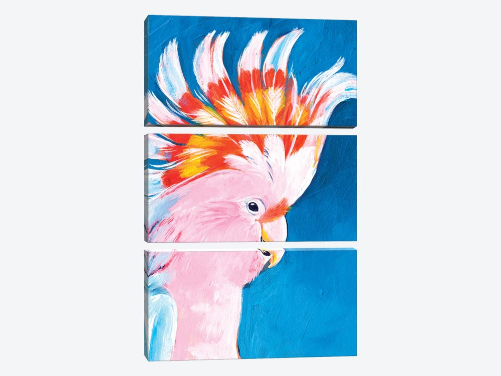 Neon Mohawk II by Jennifer Paxton Parker 3-piece Canvas Artwork