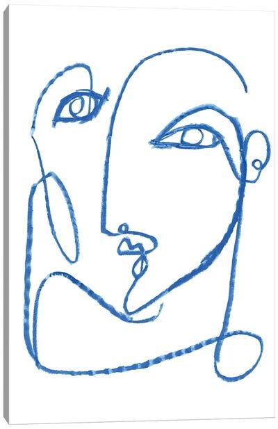 Blue Self I Canvas Art Print
