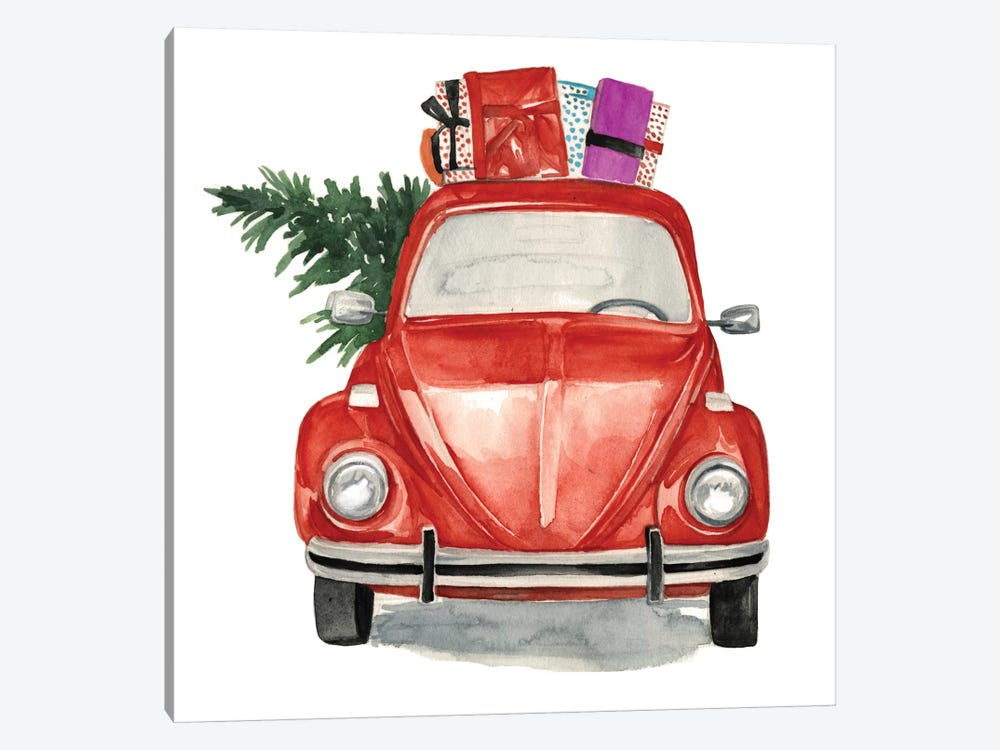 Christmas Cars I by Jennifer Paxton Parker 1-piece Canvas Print