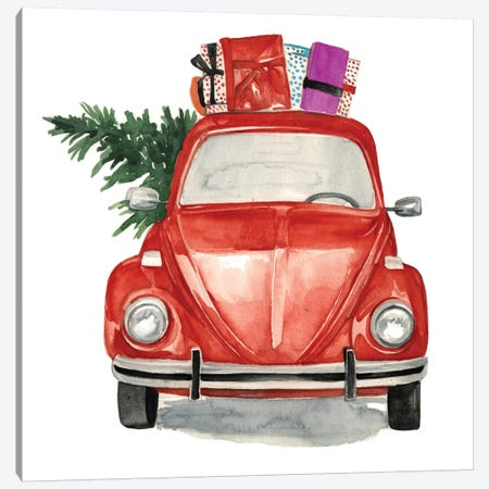 Christmas Cars I 3-Piece Canvas #JPP45} by Jennifer Paxton Parker Canvas Art