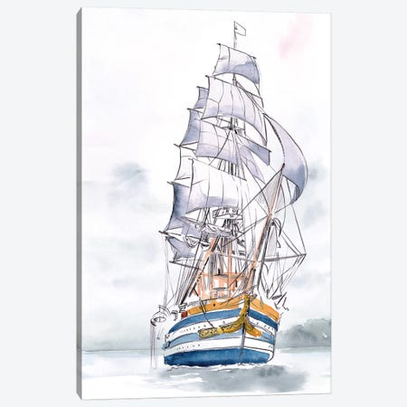 Tall Ship I Canvas Print #JPP460} by Jennifer Paxton Parker Canvas Artwork
