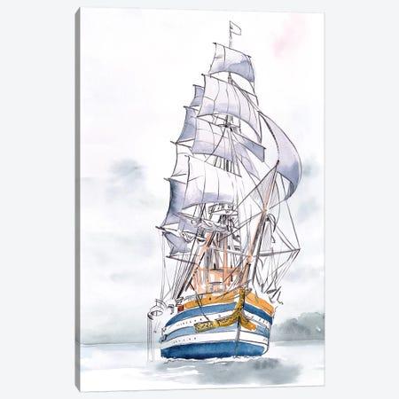 Tall Ship I Canvas Print #JPP460} by Jennifer Paxton Parker Canvas Artwork