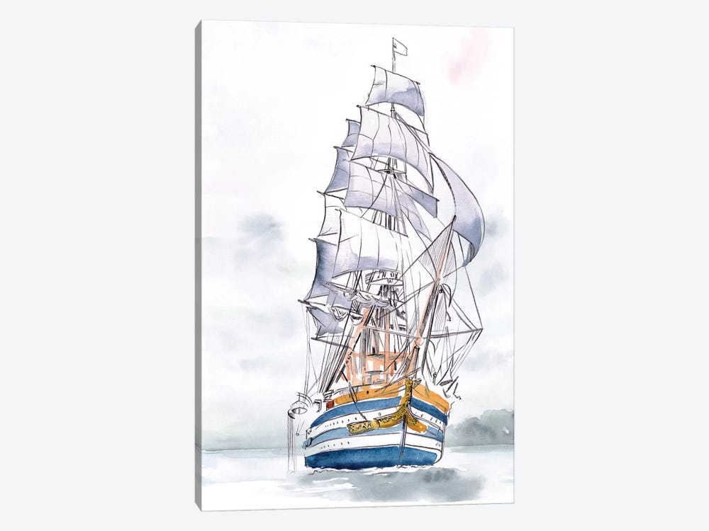 Tall Ship I by Jennifer Paxton Parker 1-piece Canvas Print