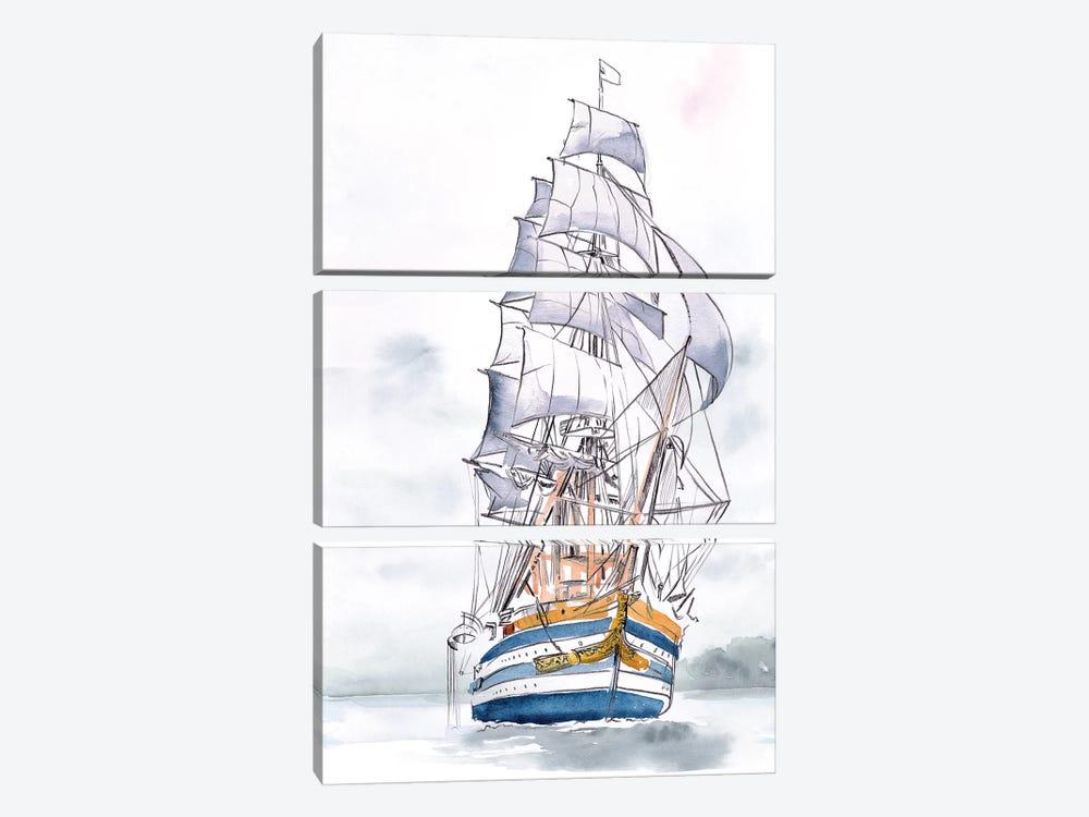 Tall Ship I by Jennifer Paxton Parker 3-piece Canvas Art Print