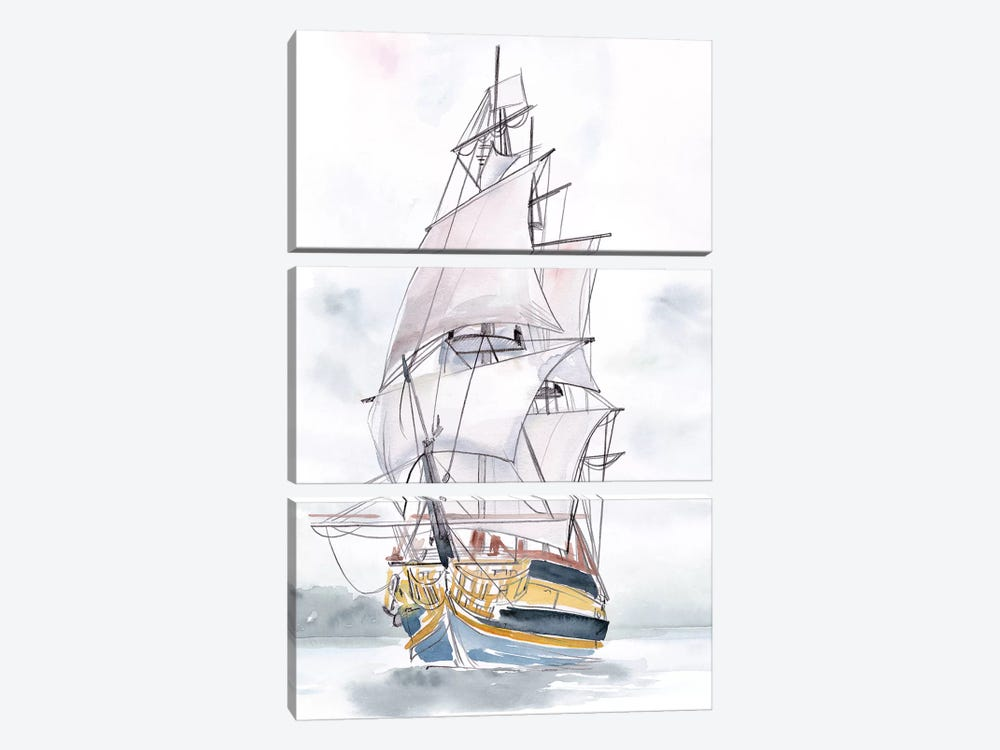 Tall Ship II by Jennifer Paxton Parker 3-piece Canvas Art