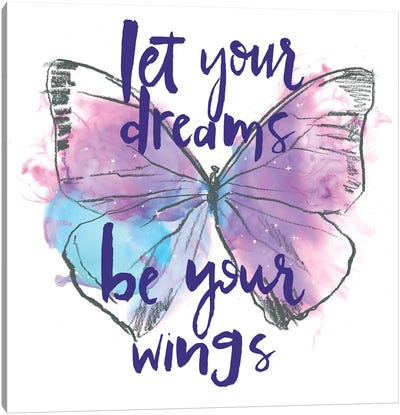 Butterfly Dreams I Canvas Art Print
