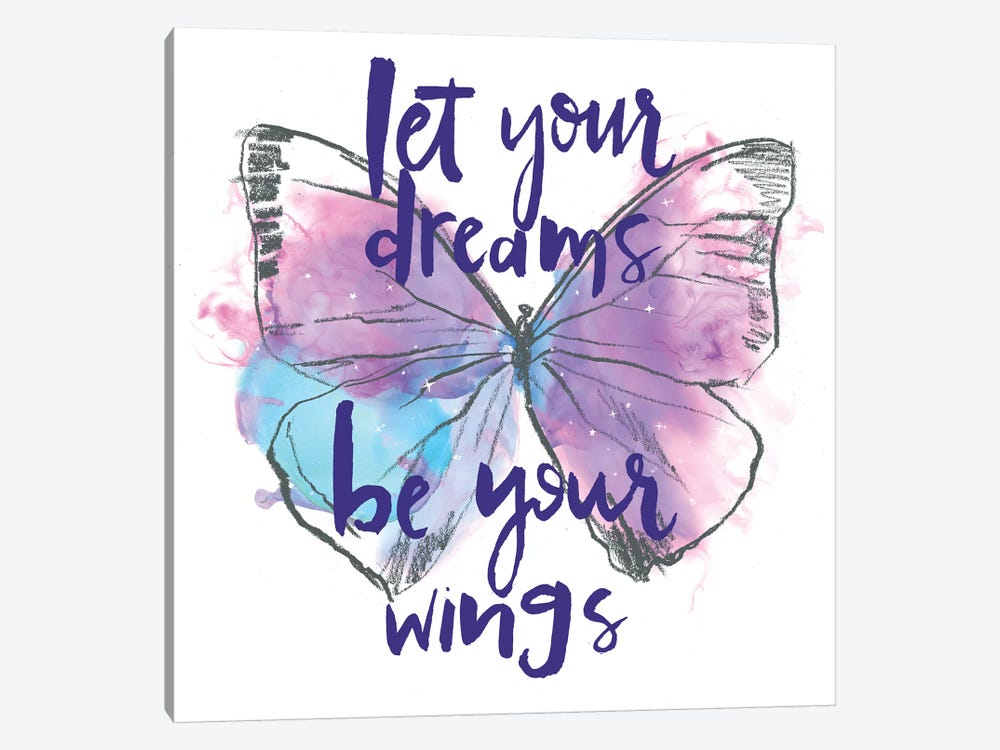 Butterfly Dreams I by Jennifer Paxton Parker 1-piece Canvas Print