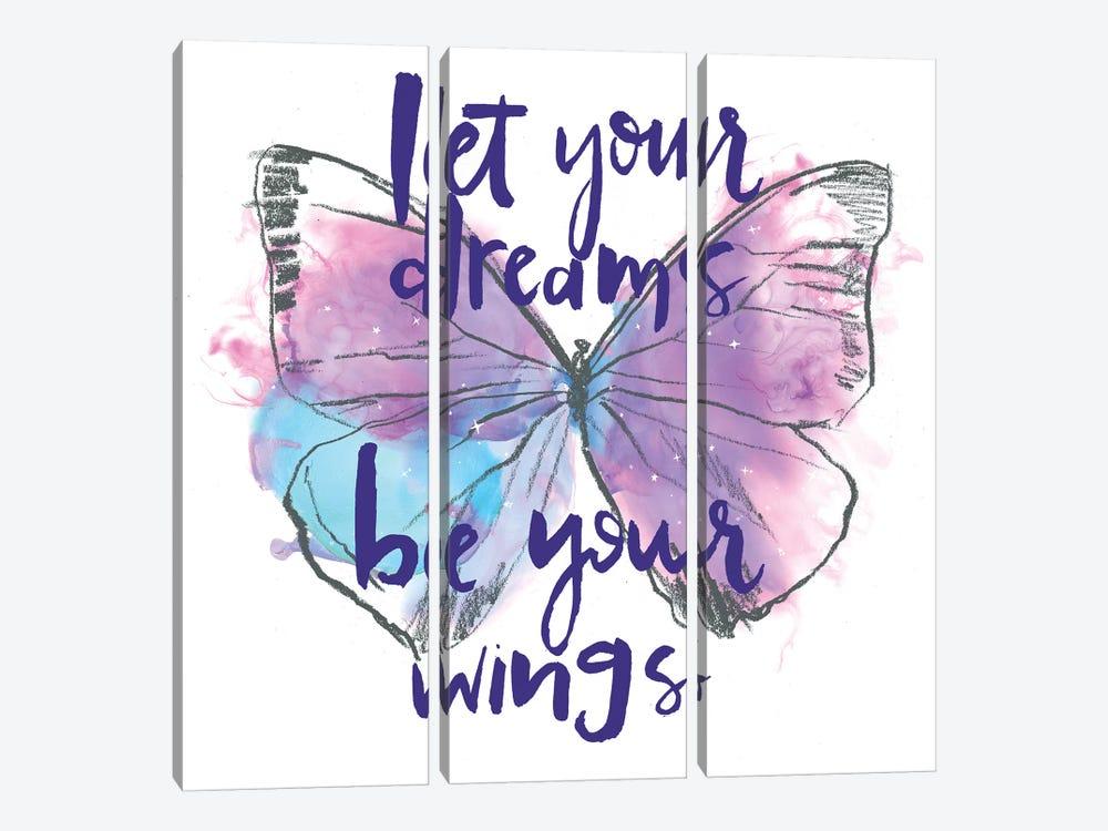 Butterfly Dreams I by Jennifer Paxton Parker 3-piece Art Print