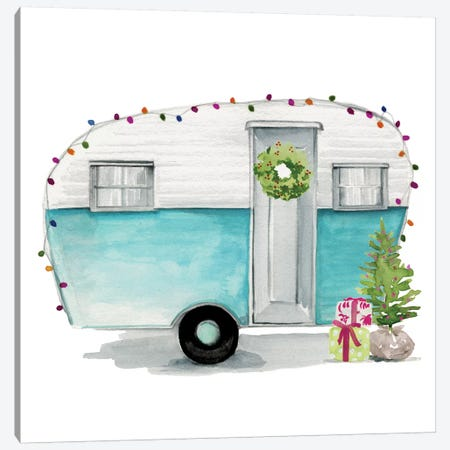 Christmas Cars II Canvas Print #JPP46} by Jennifer Paxton Parker Canvas Artwork