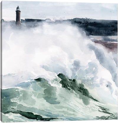 Lighthouse Waves I Canvas Art Print