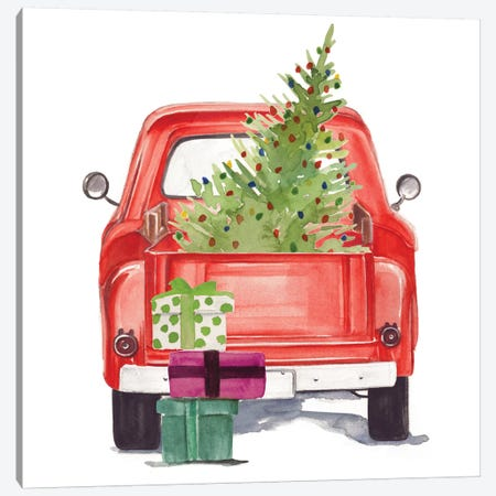 Christmas Cars III Canvas Print #JPP47} by Jennifer Paxton Parker Canvas Artwork