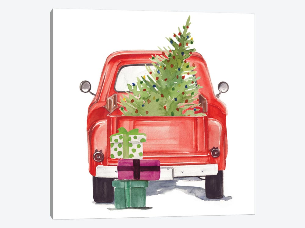 Christmas Cars III by Jennifer Paxton Parker 1-piece Canvas Art Print