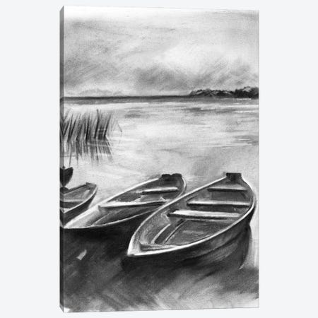 Bateau Noir I 3-Piece Canvas #JPP484} by Jennifer Paxton Parker Canvas Print