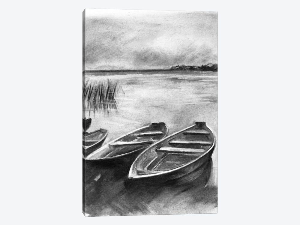 Bateau Noir I by Jennifer Paxton Parker 1-piece Canvas Print
