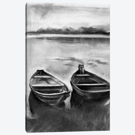 Bateau Noir II 3-Piece Canvas #JPP485} by Jennifer Paxton Parker Canvas Print