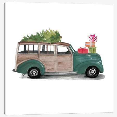 Christmas Cars IV Canvas Print #JPP48} by Jennifer Paxton Parker Art Print
