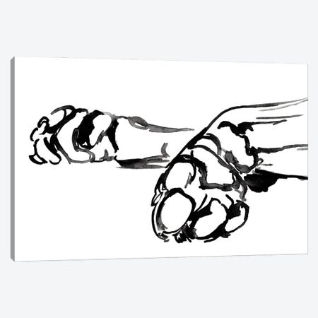 Linear Paws II Canvas Print #JPP501} by Jennifer Paxton Parker Canvas Print
