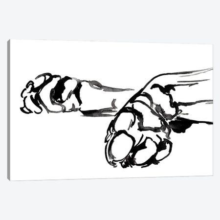 Linear Paws II Canvas Print #JPP501} by Jennifer Paxton Parker Canvas Print