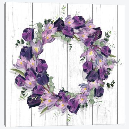 Purple Tulip Wreath I Canvas Print #JPP508} by Jennifer Paxton Parker Canvas Print