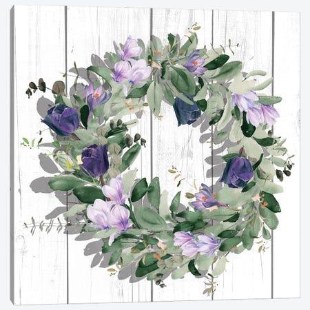 Purple Tulip Wreath II Canvas Print #JPP509} by Jennifer Paxton Parker Canvas Print