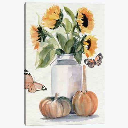Autumn Sunflowers II Canvas Print #JPP519} by Jennifer Paxton Parker Canvas Wall Art
