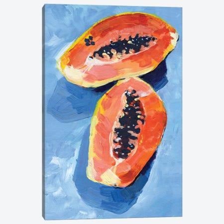 Bold Papaya II Canvas Print #JPP527} by Jennifer Paxton Parker Canvas Wall Art