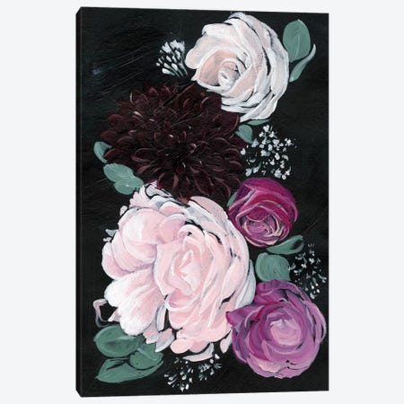 Dark & Dreamy Floral I 3-Piece Canvas #JPP53} by Jennifer Paxton Parker Canvas Artwork