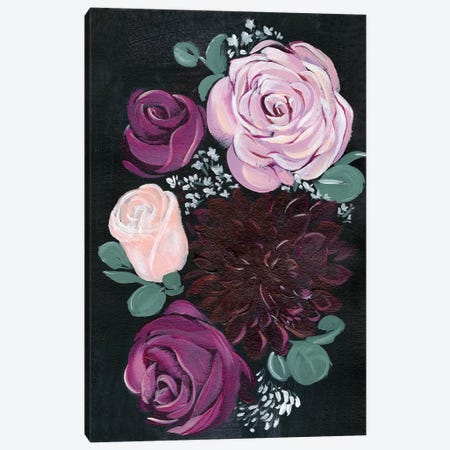 Dark & Dreamy Floral II 3-Piece Canvas #JPP54} by Jennifer Paxton Parker Canvas Art Print