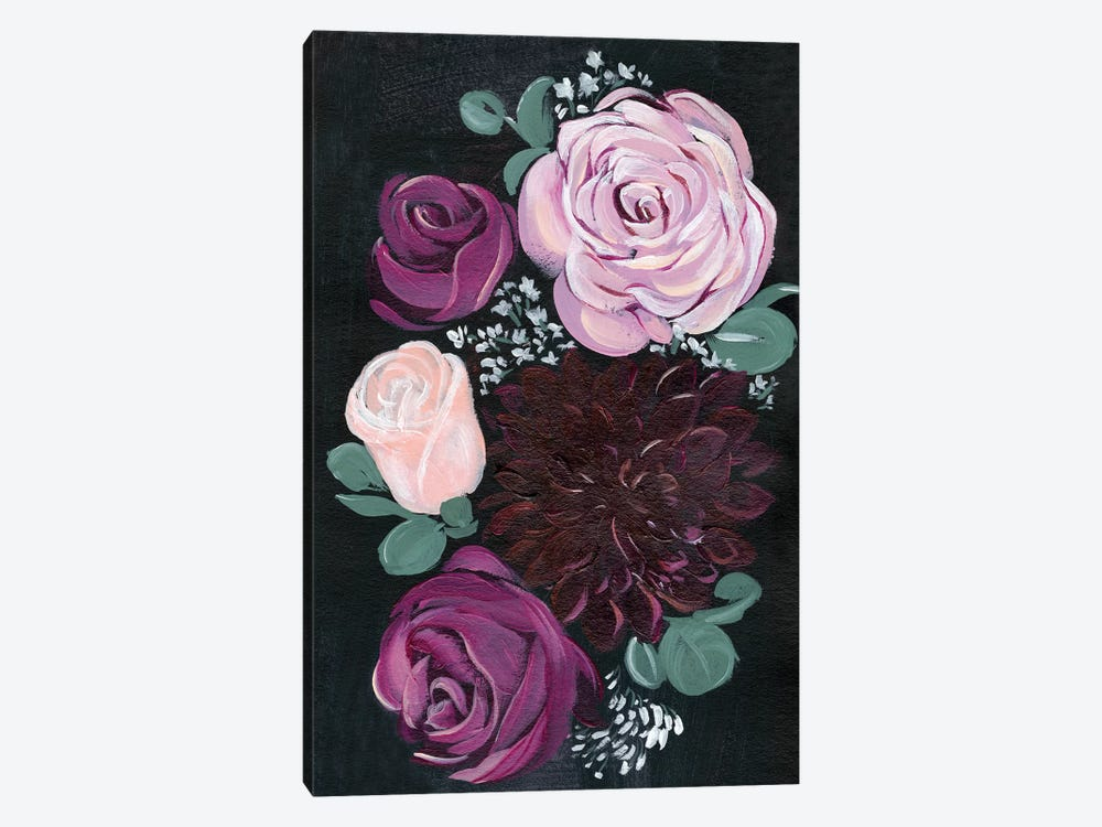Dark & Dreamy Floral II 1-piece Art Print