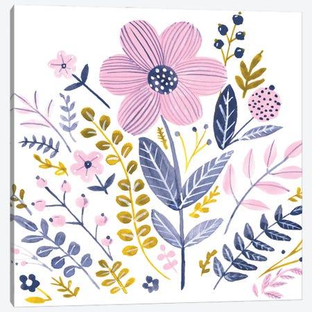 Sweet Folk Florals IV Canvas Print #JPP573} by Jennifer Paxton Parker Canvas Art