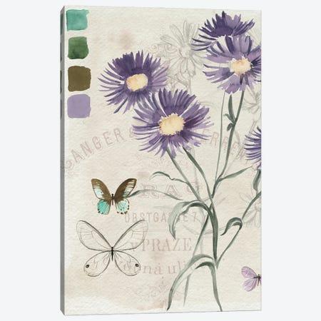 Field Notes Florals III Canvas Print #JPP599} by Jennifer Paxton Parker Canvas Wall Art