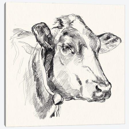 Holstein Portrait Sketch I Canvas Print #JPP606} by Jennifer Paxton Parker Art Print