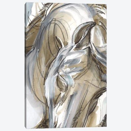 Horse Abstraction I 3-Piece Canvas #JPP61} by Jennifer Paxton Parker Art Print