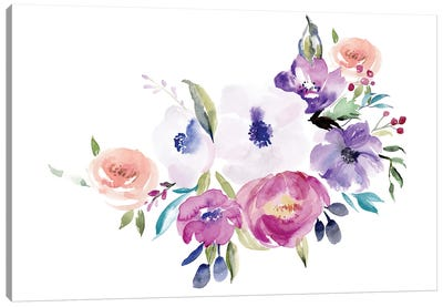 Watercolor Anemone I Canvas Art Print