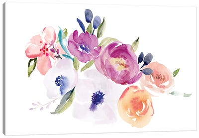 Watercolor Anemone II Canvas Art Print