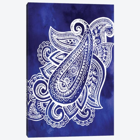 Indigo Paisley I Canvas Print #JPP65} by Jennifer Paxton Parker Canvas Art