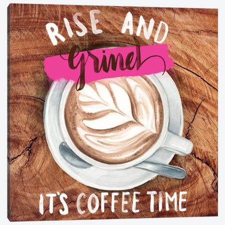 Rise & Grind II Canvas Print #JPP72} by Jennifer Paxton Parker Canvas Artwork