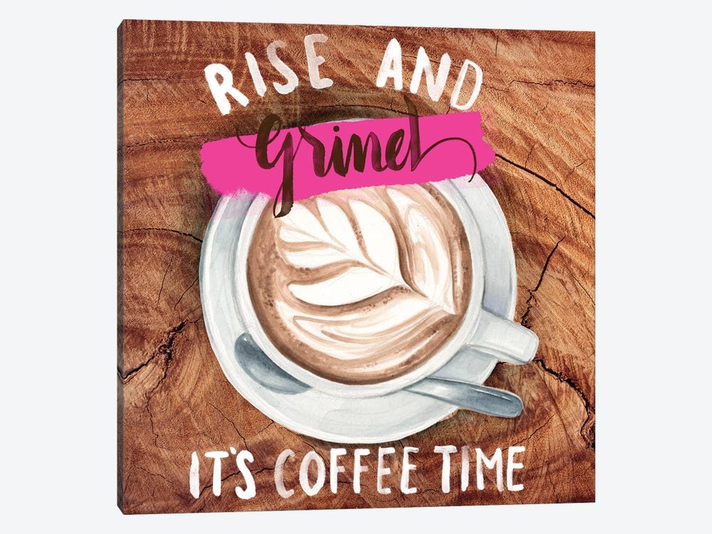 Rise & Grind II by Jennifer Paxton Parker 1-piece Canvas Art Print